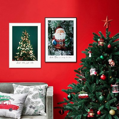 크리스마스 분위기 그림액자 겨울인테리어 장식 소품 포스터