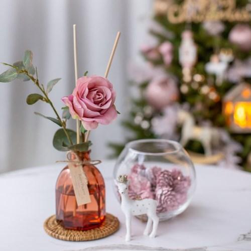 로맨틱 핑크로즈 골든 유칼립투스 디퓨저 고급포장 선물_(1505124)