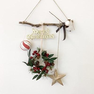 캔디 크리스마스 오너먼트 가랜드_자작나무30cm