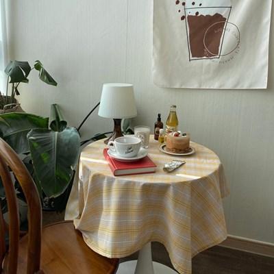 온더레몬파스텔 식탁보 테이블보 110x110cm 테이블러너