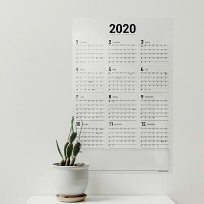 더홈스 2020년 투명 달력