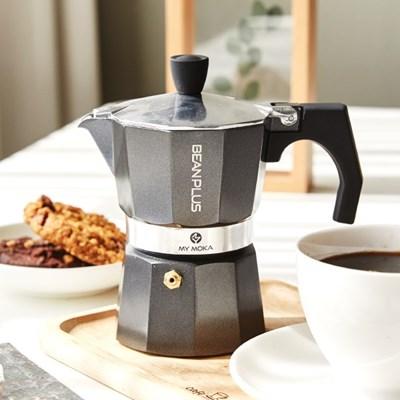 [빈플러스] 모카포트 에스프레소 커피메이커(사발이+필터+원두증정)