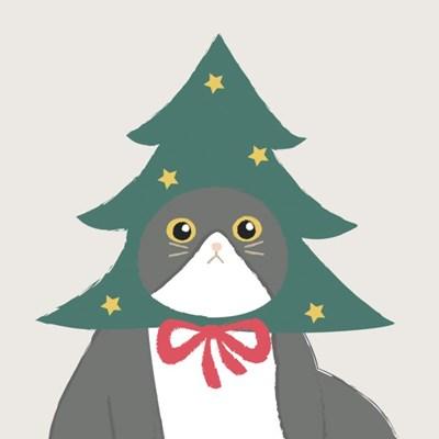 냥이의 크리스마스 겨울 액자 _ 산타냥 과 눈내리냥