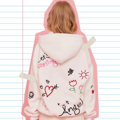MD DOODLE HOODIE(WHITE)_(4106982)