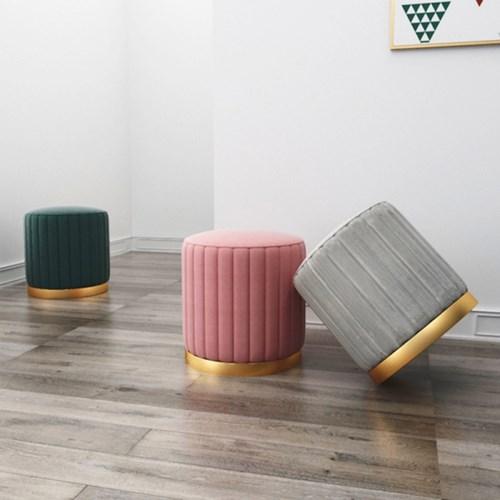 아파트32 홈 골드 리브 스툴/ 골드 철제 의자/ 까페 인테리어의자
