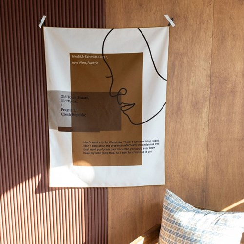라인레이디 자체제작 패브릭포스터 65x85cm 작은창커튼