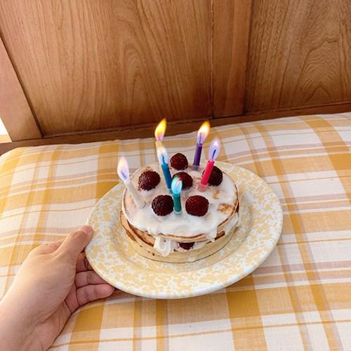 Rainbow Color Flame Candle 레인보우컬러불꽃캔들(12개세트)