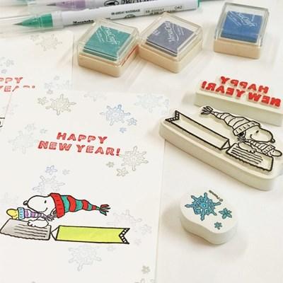 [한정판]Snoopy New Year Stamp Set 스누피 새해 스탬프 세트