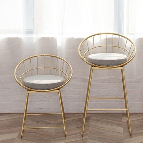 아파트32 홈 골드 철제 의자/ 까페의자/ 인테리어의자 S/M