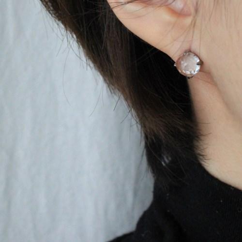 백수정 돔 귀걸이