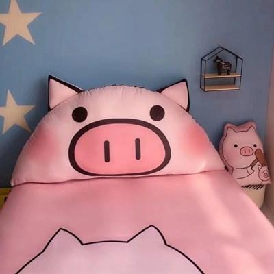 돼지 대형 등받이쿠션 3사이즈