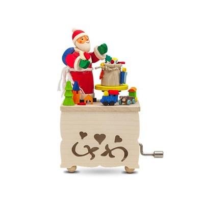 크리스마스 독일 오르골 산타와 선물가방