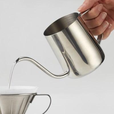 [빈플러스] 스텐 핸드드립 커피 드립포트 600ml