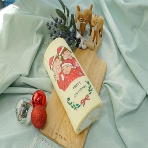 🎄 크리스마스 디자인 롤케이크 (22*9cm) 🎄
