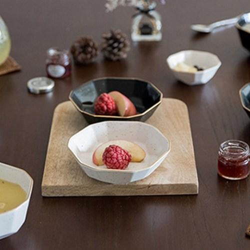다이아 찬기 (대)(2컬러) / 반찬 디저트 개인 접시 그릇
