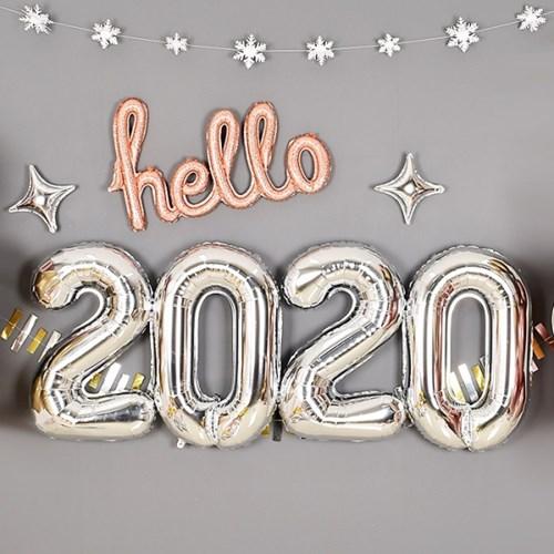 은박풍선세트 2020 [중] 실버