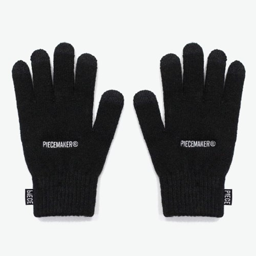 BASIC LOGO SMART GLOVES (BLACK)_(401044374)
