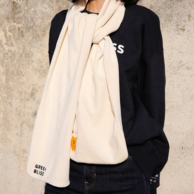 [Organic cotton Muffler] Golden dog