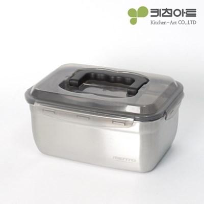 키친아트 멘토 스테인레스 김치통 핸디3호(3.6L)