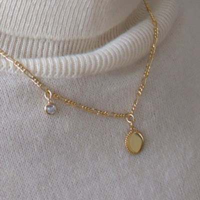 (92.5 silver) today mood necklace