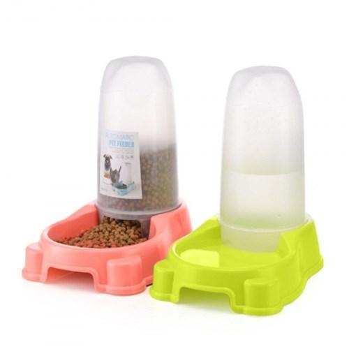 애견 자동 사료급식기 1개(색상랜덤)