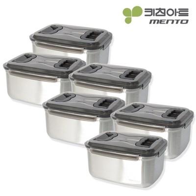 키친아트 멘토 김치통 5호(9.5L) 김장밀폐용기 6종세트