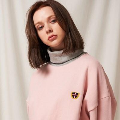 하프넥 맨투맨 (핑크)
