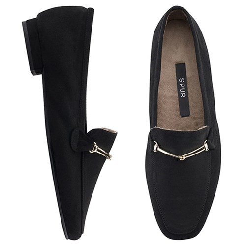 SPUR[스퍼] 로퍼 OF8066 Pluffy loafer 블랙