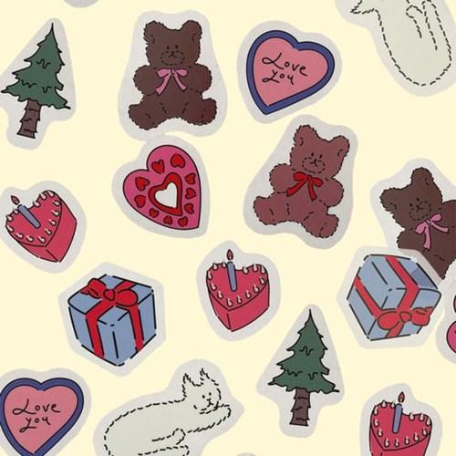[뮤즈무드] vintage bear sticker