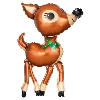 [원팩] 크리스마스 은박풍선 롱다리사슴 43x65cm_(11907849)