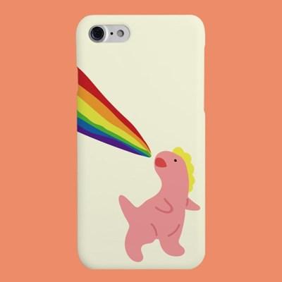 [헬로래빗]크앙무지개 핑크공룡 하드 핸드폰케이스