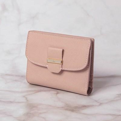 라운드 리본 포인트 핑크 카드 지갑 CLAB19C02SPL