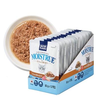 뉴트리플랜 모이스트루 참치와 닭고기 캣 80g x 12개_(840887)
