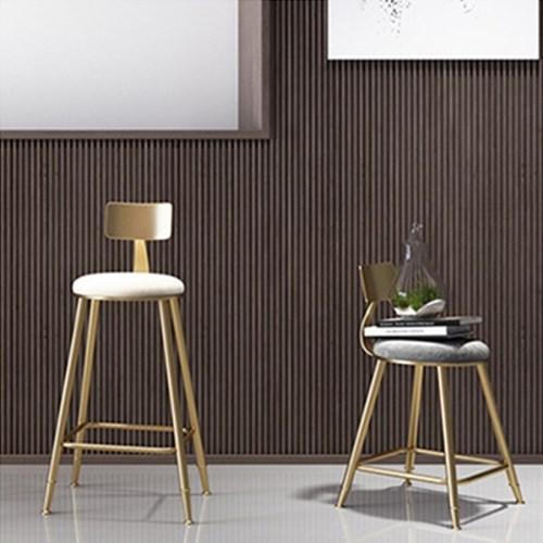 아파트32 홈 골드 철제 백레스트 등받이 의자/ 까페의자