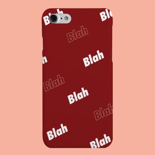 [헬로래빗]블라블라 버건디 하드 핸드폰 케이스