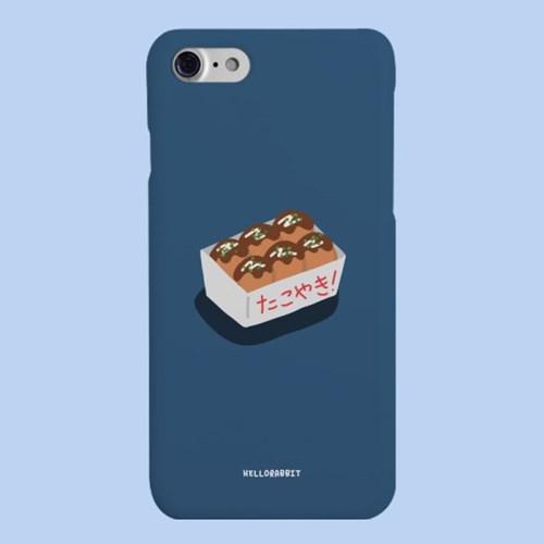 [헬로래빗]타코야끼 블루  하드 핸드폰 케이스