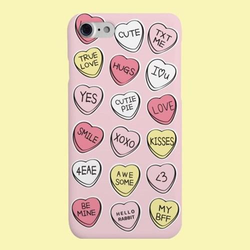 [헬로래빗]러브버튼 핑크 핸드폰케이스