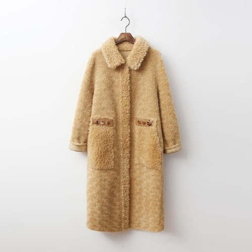 Shearling Mustang Long Coat