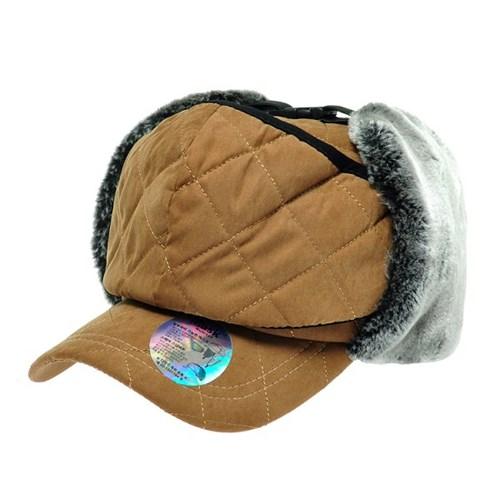 [플릭앤플록]RJO04.퀼팅 털귀달이 마스크 방한 캡모자