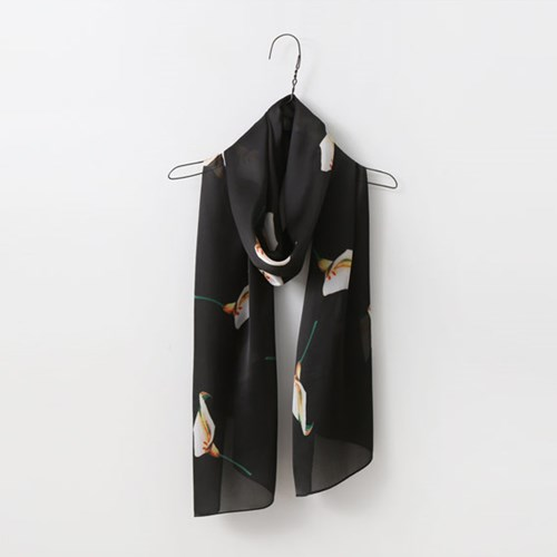 Silk Lily Long Scarf