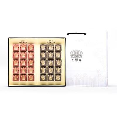 해피하우스 신라 전통 왕실 전통차 천명차 30포 아토 선물세트