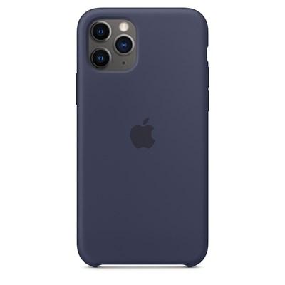 iPhone 11 Pro 실리콘 케이스 - 미드나이트 블루