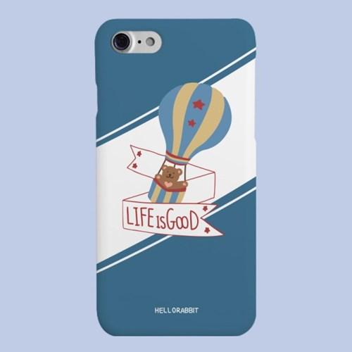 [헬로래빗]라이프베어 블루 하드 핸드폰 케이스