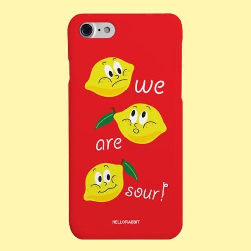 [헬로래빗]레몬 하드 핸드폰 케이스