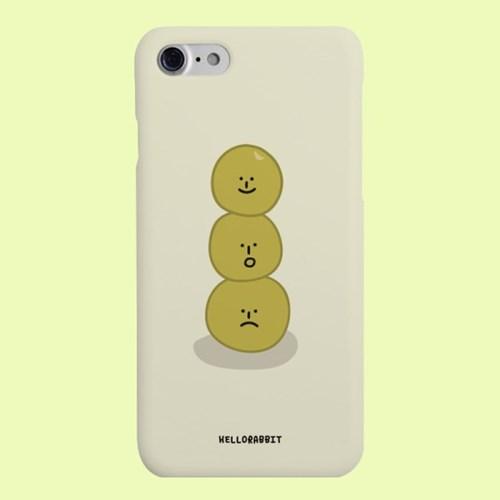 [헬로래빗]완두콩이 베이지 하드 핸드폰 케이스