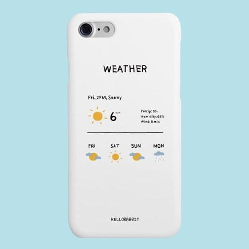 [헬로래빗]WEATHER 하드 핸드폰 케이스