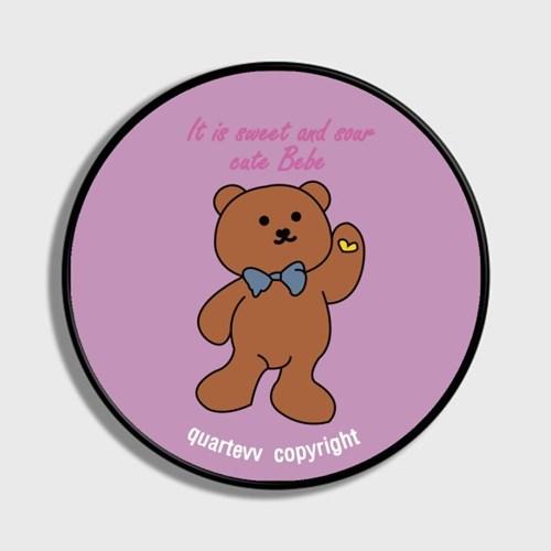 lettering bear - purple(스마트톡)