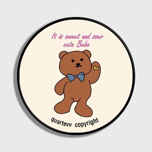 lettering bear - ivory(스마트톡)