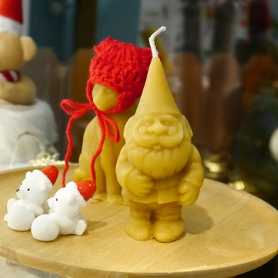 [Honey Bees Candle] 산타요정 밀랍초