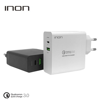 아이논 퀵차지3.0 63W 2포트 USB PD 고속 멀티충전기 IN-UC210P